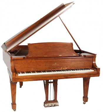 Steinway & Sons mahogany grand piano with mahogany case and in the original finish, made 1931 (est. $4,000-$6,000).