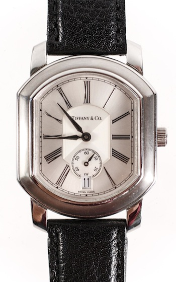 Tiffany & Company Mark Coupe gent's stainless steel bracelet watch with quartz movement.