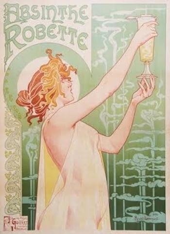 Art Nouveau poster by artist Henri Privat-Livemont advertising Absinthe