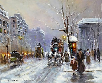 The auction will feature two Parisian street scenes by the renowned French painter Edouard Leon Cortes (1882-1969). Each one is estimated at $20,000-$30,000.