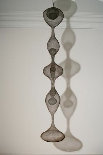 "*Ruth Asawa (American/Japanese, 1926-2013) ""Hanging Five-Lobed Continuous Form with Spheres Inside Four of the Lobes, Two of the Inside Spheres Containing Spheres within Them,"" c. 1954"