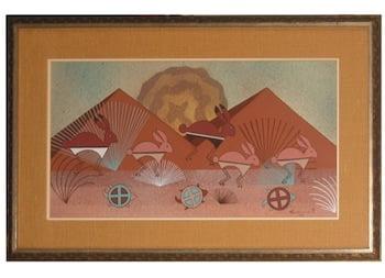Signed original gouache painting by Helen Hardin, a/k/a Tsa-Sah-Wee-Eh (1943-1984), circa 1980s ($3,738).