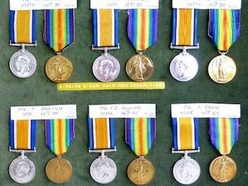 North Staffs Regiment Medals