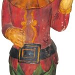 LATE 19th CENTURY PUNCH CIGAR STORE FIGURE WITH LITTLE PROVENANCE STILL BRINGS $102,600 AT SHOWTIME AUCTION SERVICES' OCT. 3-5 AUCTION