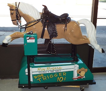"Circa-1953 fiberglass Roy Rogers horse (""Trigger"") 10-cent machine, fully operational and restored (2,300)."