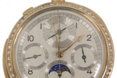 E. HOWARD & COMPANY WALL HANGING No. 47 ASTRONOMICAL REGULATOR CLOCK CHIMES FOR A RECORD $356,950.00 AT FONTAINE'S NOV. 22-23 CLOCK & WATCH SALE!