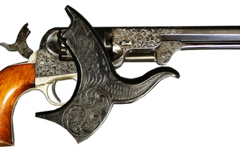 This Colt M1851 Navy pistol engraved by Gustave Young, shipped in 1861, will be sold Feb. 15.