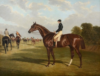 Mr John Bowes' Mundig, Winner of the Derby Stakes at Epsom, 1835, John Frederick Herring the Elder (1795-1865)