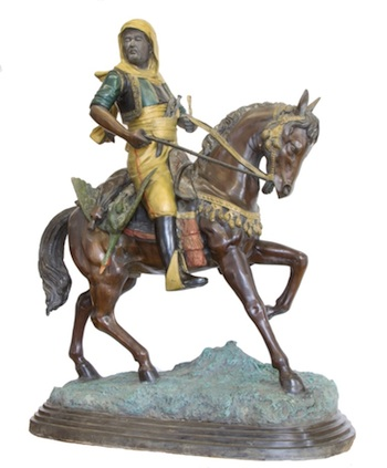 Lot 239_a large bronze Bedouin Prince on horseback