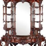 MUSEUM-QUALITY ROSEWOOD ROCOCO BONNET-TOP ETAGERE, MADE CIRCA 1855 BY THOMAS BROOKS, SELLS FOR $63,250 AT STEVENS AUCTION, APRIL 18th