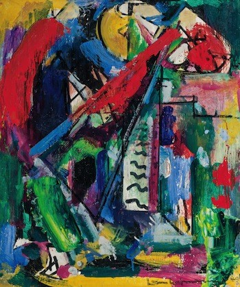 This untitled (and recently discovered) abstract painting by American Modern artist Hans Hofmann, is expected to fetch $80,000-$120,000.