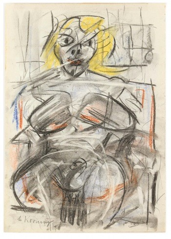 Original pastel and mixed media on paper by renowned Dutch-American artist Willem de Kooning, titled Woman (Study for Marilyn Monroe); (est. $700,000-$900,000).