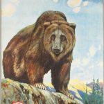 RARE PETERS AMMUNITION POSTER WITH BEAR GRAPHIC CLAWS ITS WAY TO $12,540 AT SHOWTIME AUCTION SERVICES' APRIL 10-12 AUCTION IN MICHIGAN