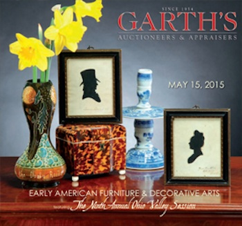 Cover for Garth's May 15 Americana Auction