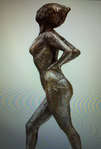 The auction will feature two bronze sculptures by Edgar Degas (Fr., 1834-1917), including this one (#41), titled Dancer at Rest Hand Behind Her Back Right Leg Forward, 18 inches tall.