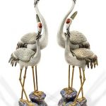 Enamel Cranes Sell for £124,000 at Dreweatts Chinese Ceramics & Asian Works of Art Sale