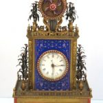 CHINESE GILT BRONZE WITH ENAMEL AUTOMATON CLOCK WITH ELABORATE JEWEL WORK SOARS TO $526,750 AT S & S AUCTION