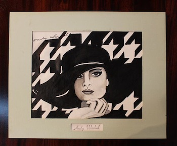 Original oil on canvas rendering of the iconic French fashion designer Coco Chanel by the equally iconic pop artist Andy Warhol (not a print).