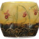 MONUMENTAL SIGNED DAUM NANCY FRENCH CAMEO ART GLASS VASE, 19 ½ INCHES TALL, IN SUPERB CONDITION, REALIZES $12,000 AT WOODY AUCTION