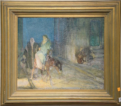 This original oil painting by the renowned late 19th/early 20th century Black American artist Henry Ossawa (H.O.) Tanner is estimated to bring $40,000-$80,000.