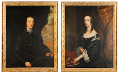 The sale's top earner was one lot comprising two 17th century portraits of British nobility by English artist John Hayls ($14,160).
