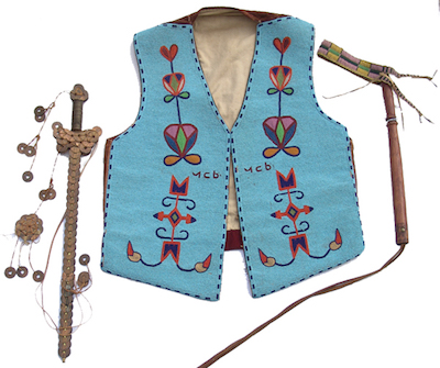 Historic, fully-beaded Cree-made Native American Hopi vest with traditional floral motif (est. $10,000-$20,000).