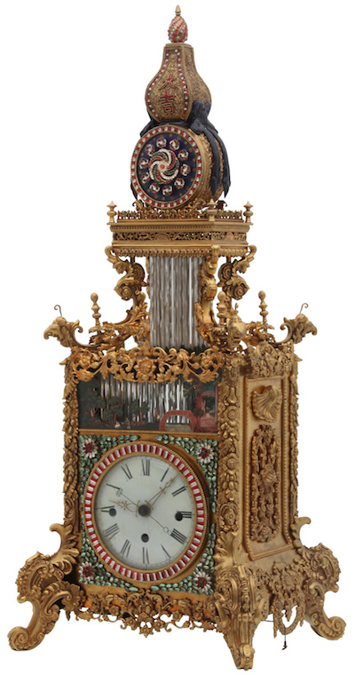 Rare antique Chinese animated triple fusee bracket clock, running and striking and with all animated mechanisms working (est. $500,000-$750,000)