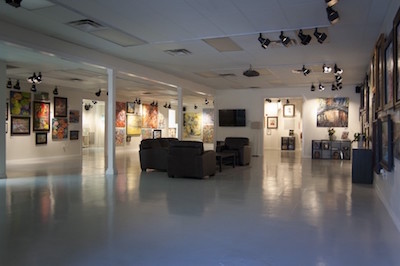 The spacious entrance to Baterbys' gallery gives visitors lots of room to peruse the artwork and ponder their next purchase.