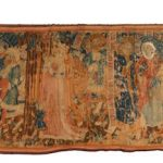 EARLY 16th CENTURY GERMAN GOTHIC TAPESTRY AND A LARGE GILT BRONZE SIDDHARTHA GAUTAMA BUDDHA EARN TOP HONORS AT AHLERS & OGLETREE
