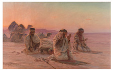 This oil on canvas by Orientalist master, Otto Pilny is expected to being between $70,000 - $90,0000 in Selkirk's May 21 auction. Photo courtesy selkirkauctions.com