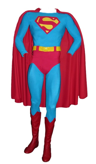 Actual costume the late actor Christopher Reeve wore in the first two Superman movies – Superman: The Movie and Superman II (est. $30,000-$40,000).