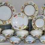 81-PIECE TIFFANY & COMPANY CHINA SET IN THE CIRQUE CHINOIS PATTERN FINISHES AT $16,675 AT PHILIP WEISS AUCTIONS' JUNE 15th AUCTION