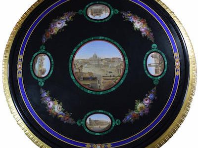 BEAUTIFUL LARGE MICROMOSAIC TABLE, MADE IN ROME, ITALY CIRCA 1850, WILL HEADLINE AUCTIONLIFE FLORIDA'S INAUGURAL AUCTION ON JULY 24th