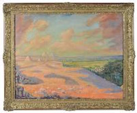 Churchill's 1946 Paintings of Miami Beach, Giza Pyramids to Star in July 27 Boningtons Auction