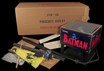 This exceedingly rare, never-used 1966 Batman parachute toy retail display carries a pre-sale estimate of $3,000-$5,000.