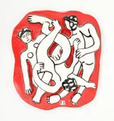 Fernand Leger (French, 1881-1955), Les Acrobates, limited edition ceramic plaque from edition of 250, circa 1950s, provenance includes Estate of Fernand Leger, 19.5in x 17.5in., est. $15,000-$20,000  Image courtesy of Palm Beach Modern Auctions