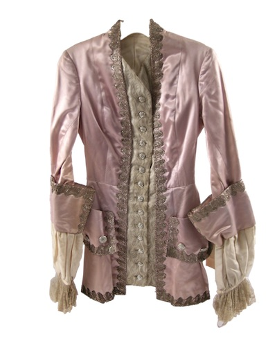 Actual screen-worn pink and silver detailed jacket from the 1968 movie Funny Girl, starring Barbra Streisand