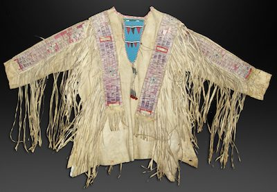 A PAIR OF LATE 19th CENTURY SIOUX BEADED WAR SHIRTS COMBINE TO SELL FOR $50,000 AT ALLARD AUCTIONS' BEST OF SANTA FE SALE, HELD AUG. 12-14