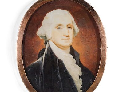 RECENTLY REDISCOVERED PORTRAIT MINIATURES OF PRESIDENT GEORGE AND FIRST LADY MARTHA WASHINGTON TO BE OFFERED AT AUCTION,  OCTOBER 27th