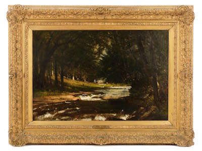 This important oil painting by the Hudson River School artist Worthington Whittredge (Am., 1820-1910) will be sold Jan. 14-16 in Atlanta by Ahlers & Ogletree.