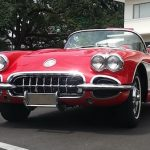 1959 RED CORVETTE CONVERTIBLE IN LIKE-NEW CONDITION REVS UP THE CROWD AT STEVENS AUCTION'S JAN. 7 SALE, ROARING AWAY FOR $78,775