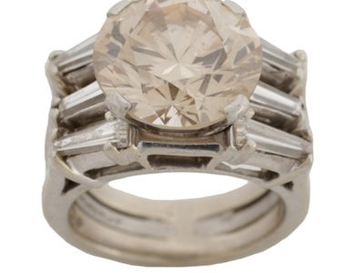 6.77-CARAT DIAMOND RING BRINGS $31,000 AND A LARGE FIGURAL HALL BENCH ATTRIBUTED TO HORNER REALIZES $28,320 AT AHLERS & OGLETREE, JAN. 14th-16th
