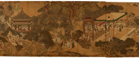 MONUMENTAL CLASSICAL PAINTING ATTRIBUTED TO CHINESE ARTIST QUI YING (1494-1552) SOARS TO $112,500 AT AHLERS & OGLETREE'S MARCH 25-26 AUCTION