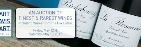 Hart Davis Hart Wine Co. to Hold Two-Day Auction  on May 12th & 13th