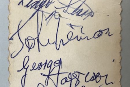 Richard Winterton to Auction 1963 Beatles Autographs