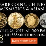1988 Fine Gold Panda Coin Leads Way in Rare Coins, Chinese Numismatics & Asian Art Auctions