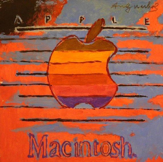 Apple Macintosh logo Andy Warhol