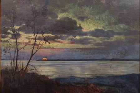 LUMINIST LANDSCAPE PAINTING ATTRIBUTED TO THE HUDSON RIVER SCHOOL ARTIST JASPER F. CROPSEY HITS $38,400 AT WOODSHED ART AUCTIONS, DEC. 28
