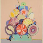 OIL ON BOARD PAINTING BY WAYNE THIEBAUD (Am., b. 1920), TITLED LOLLIPOP TREE, SOARS TO $1.08 MILLION AT NADEAU'S AUCTION GALLERY, JANUARY 1st
