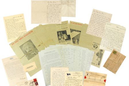 RARE, IMPORTANT ARCHIVES PERTAINING TO ALBERT EINSTEIN, GEN. CUSTER'S WIFE, OTHERS WILL BE IN UNIVERSITY ARCHIVES ONLINE AUCTION ON FEB. 21st